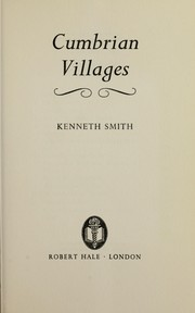 Cover of: Cumbrian villages |