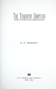 Cover of: The  Tinkertoy computer and other machinations