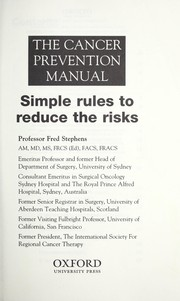 Cover of: The cancer prevention manual | Fred Stephens