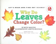 Cover of: Why do leaves change color?