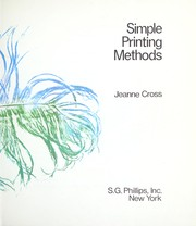 Cover of: Simple printing methods. | Jeanne Cross