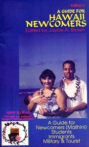 Cover of: A Guide for Hawaii Newcomers | Joyce Brown