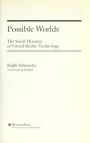 Cover of: Possible worlds