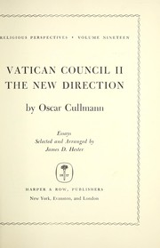 Cover of: Vatican Council II; the new direction. | Oscar Cullmann