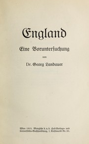 Cover of: England