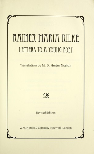 Cover of: Letters to a young poet | Rainer Maria Rilke