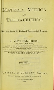Cover of: Materia medica and therapeutics