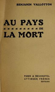 Cover of: Au pays de la mort