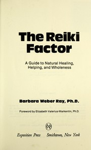 Cover of: The Reiki factor