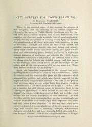 Cover of: City surveys for town planning | Geddes, Patrick Sir