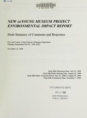 Cover of: New de Young Museum project |