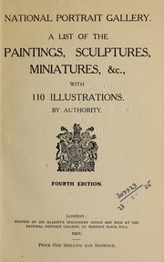 Cover of: A list of the paintings, sculptures, miniatures, [etc.]
