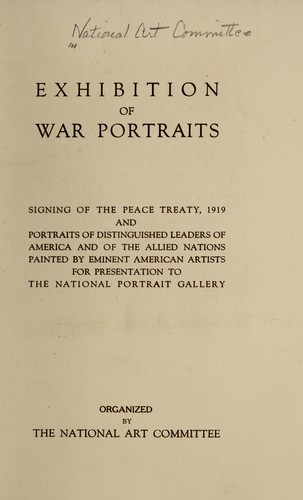 Exhibition of war portraits by National Art Committee.