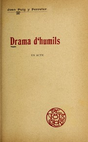 Cover of: Drama d'humils