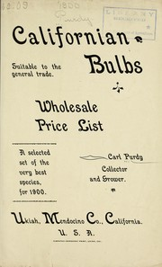 Cover of: Californian bulbs suitable to the general trade