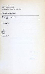 Cover of: William Shakespeare, King Lear | Kenneth Muir