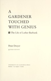 Cover of: A gardener touched with genius by Peter Dreyer