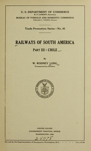 Cover of: Railways of South America | W. Rodney Long