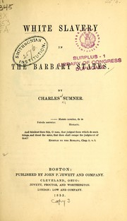 Cover of: White slavery in the Barbary states