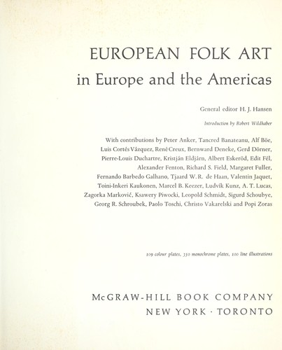 European folk art in Europe and the Americas.