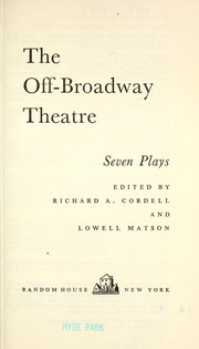 Cover of: The off-Broadway theatre; seven plays |