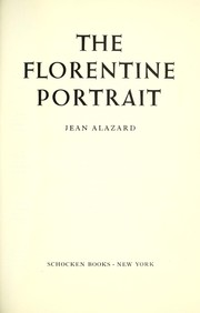 Cover of: The Florentine portrait
