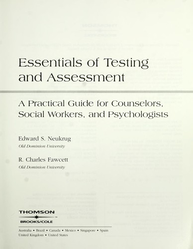 Essentials of testing and assessment by Ed Neukrug