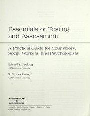 Cover of: Essentials of testing and assessment by Ed Neukrug