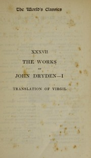 Cover of: The works of Virgil