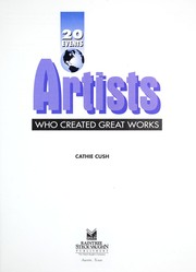 Cover of: Artists who created great works | Cathie Cush