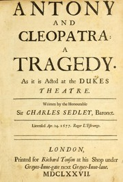 Antony and Cleopatra by Sedley, Charles Sir