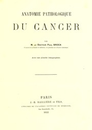 Cover of: Anatomie pathologique du cancer