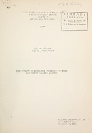 Cover of: Bibliography of literature pertaining to soils and closely related subjects | Hugh G. Calkins