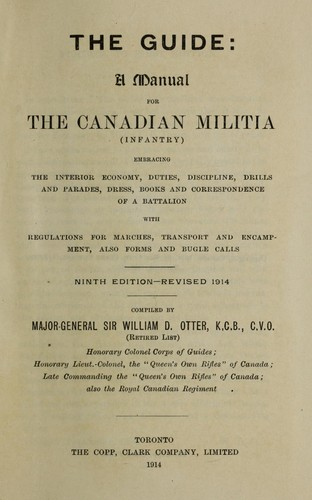 The guide: a manual for the Canadian militia (infantry) by W. D. Otter