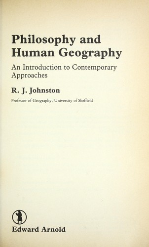 Philosophy and human geography