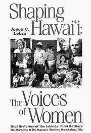 Cover of: Shaping Hawaii | Joyce Lebra-Chapman