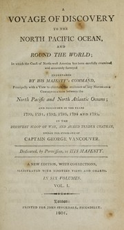 Cover of: A voyage of discovery to the North Pacific ocean