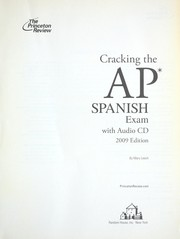 Cover of: Cracking the AP Spanish exam