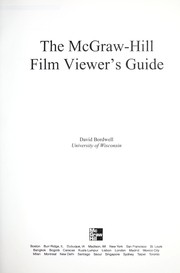 The McGraw-Hill film viewer's guide by David Bordwell