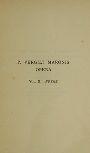 Cover of: P. Vergili Maronis Opera