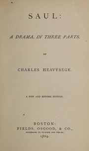 Cover of: Saul | Charles Heavysege