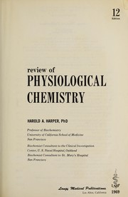 Cover of: Harper's Review of biochemistry. by Harold A. Harper