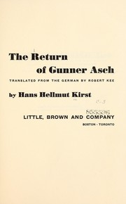 Cover of: The return of Gunner Asch