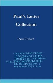 Cover of: Paul's Letter Collection