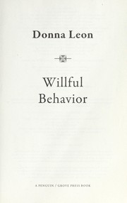 Cover of: Willful behavior