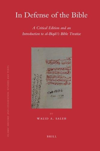 In defense of the Bible by Walid A. Saleh