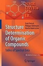 Cover of: Structure determination of organic compounds | Ernö Pretsch