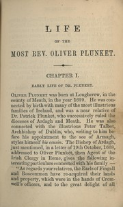The life of the Most Rev. Oliver Plunket by Patrick Francis Moran