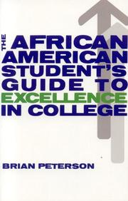 Cover of: The African American Student's Guide to Excellence in College