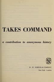 Cover of: Mechanization takes command: a contribution to anonymous history